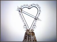 Хрустальный колокольчик Сердце