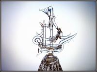 Хрустальный колокольчик Кораблик