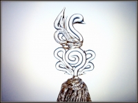 Хрустальный колокольчик Лебедь