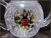 Хрустальный чайник 500мл герб РФ